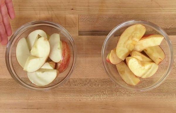תפוחים הופכים חומים תוך מספר שניות. הטריק הזה שומר עליהם טריים יותר מ 24 שעות!