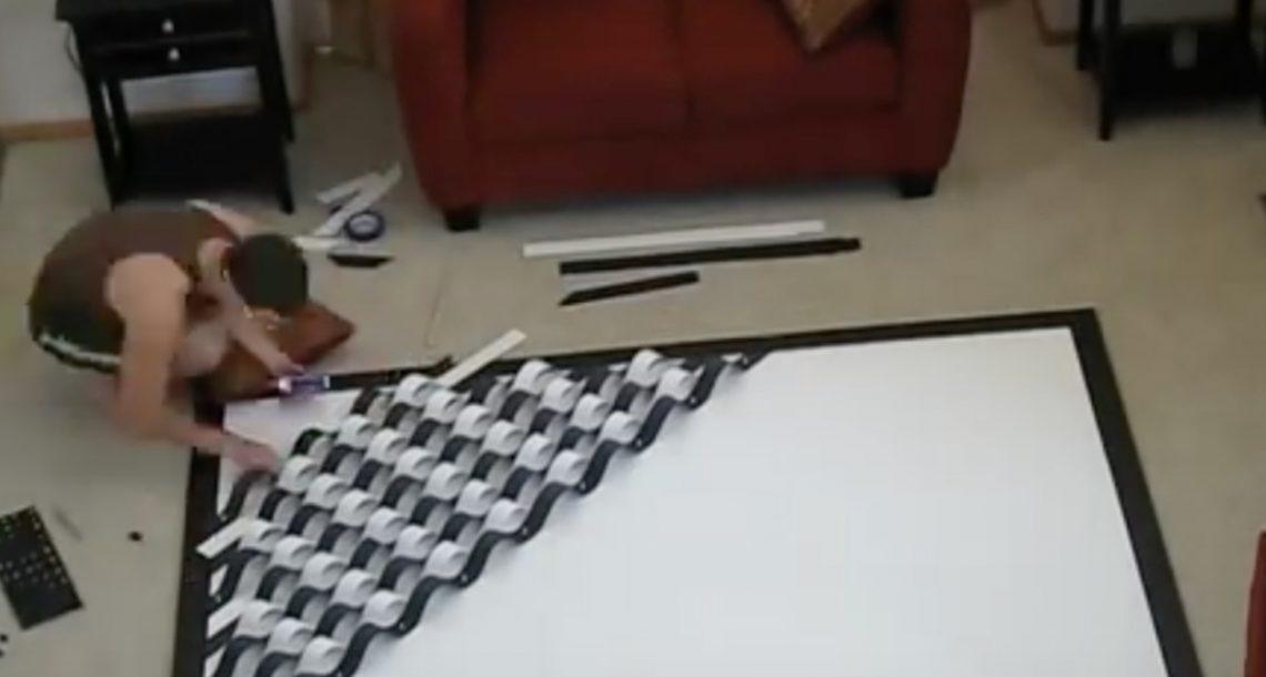 אישתו ביקשה ממנו שיצור משהו לקיר הגדול בבית, מה שהוא יצר יפיל לכם את הלסת לרצפה!