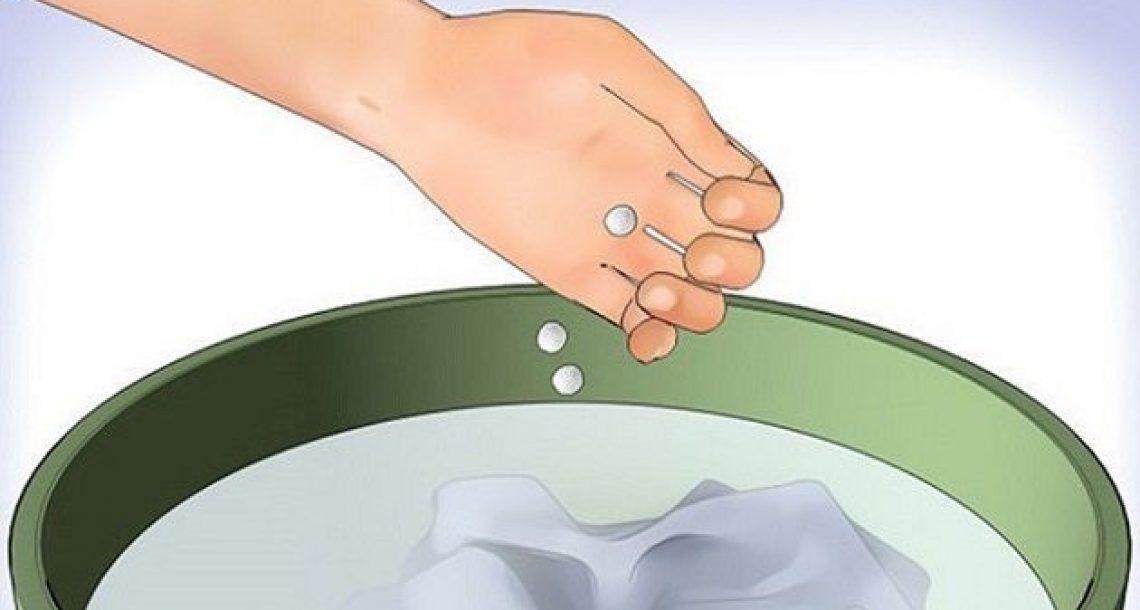 זרקו כדור אספירין אל תוך מכונת הכביסה, הסיבה תשאיר אתכם ללא מילים!