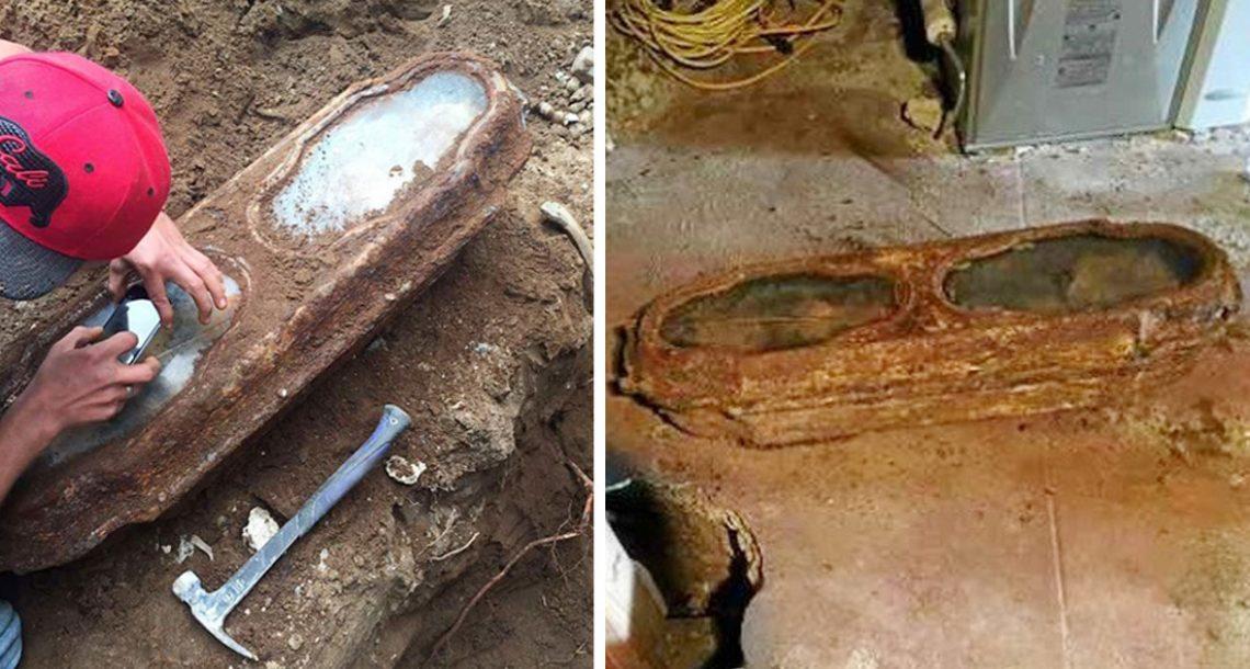 נגר מצא ארון קבורה של ילדה מתחת לבית – הסתכל מקרוב וקיבל את השוק של החיים שלו