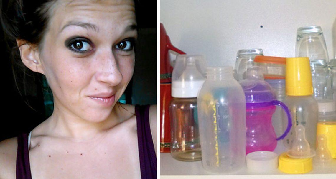 לאמא נמאס מבלאגן בקבוקי התינוקות – אז היא חשבה על פתרון גאוני שעלה לה 40 שקלים בלבד