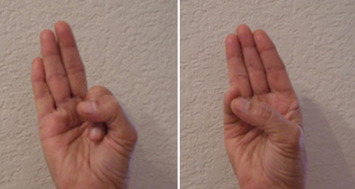 אם תחזיקו את היד בתנוחה ספציפית, זה הדבר המדהים שיקרה