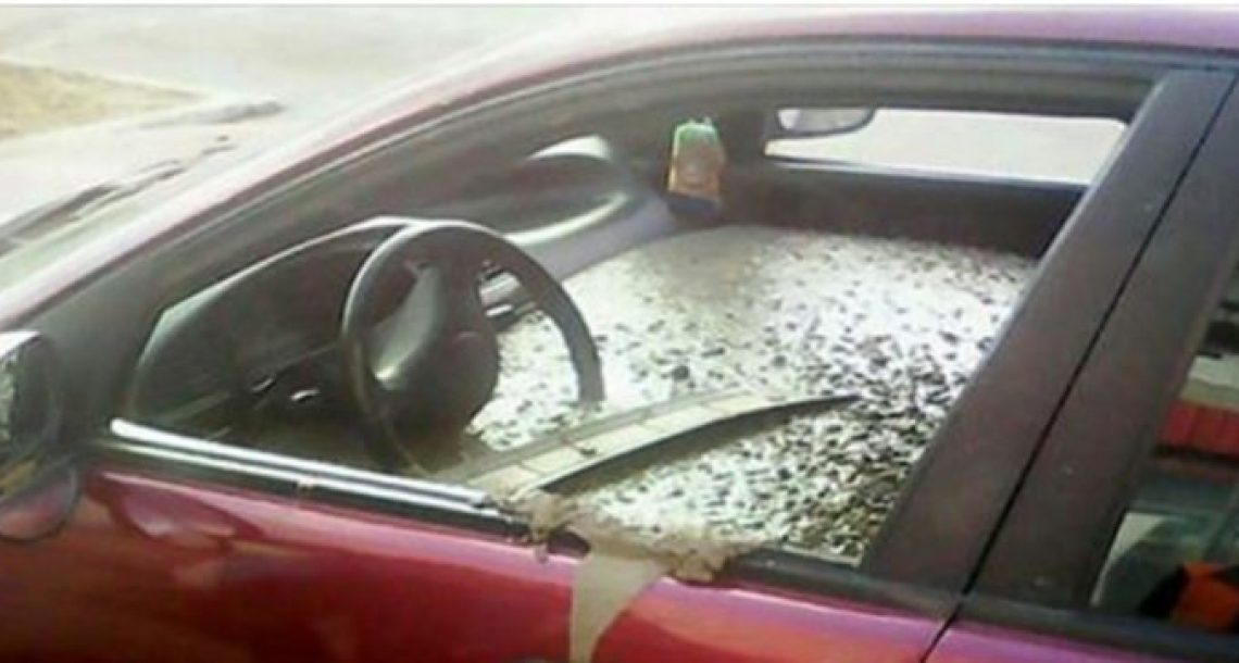 אישה גילתה שמישהו מילא את המכונית שלה בבטון. הייתה בשוק כשהבינה מדוע