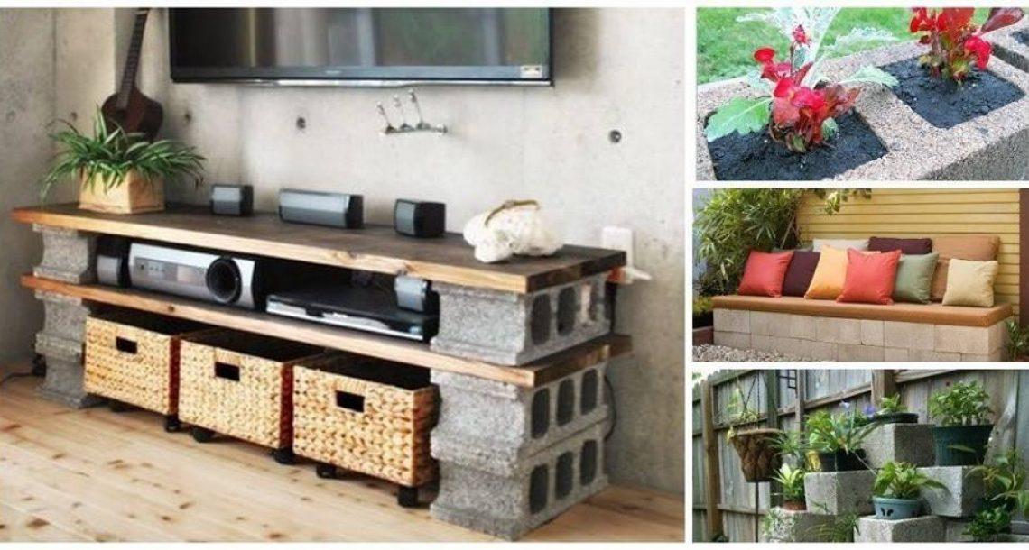 15 דברים שימושיים וקלים שאתם יכולים לעשות עם בלוקים מבטון