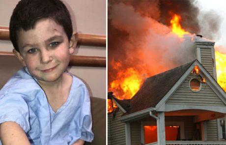 ילד בן 5 סחב את אחותו בת השנתיים אל מחוץ לבית בוער, רץ בחזרה פנימה להציל את שאר בני המשפחה