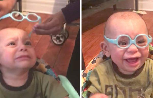 התינוק הזה ראה את אמא שלו בפעם הראשונה – תראו את האהבה הטהורה שיש לו בעיניים