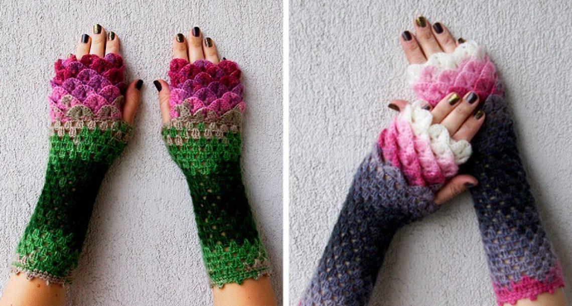 כפפות הדרקון האלה עם קשקשי קרושה ידאגו שיהיה לכם חם כל החורף!