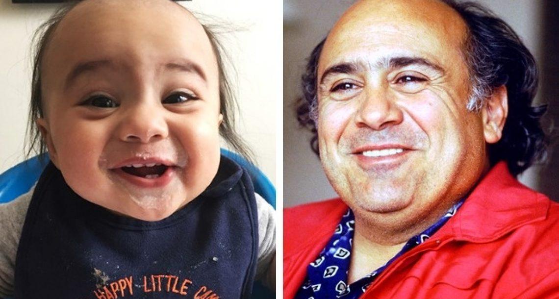 11 תינוקות שבאופן מחשיד ומטורף למדי נראים בדיוק כמו אנשים מפורסמים