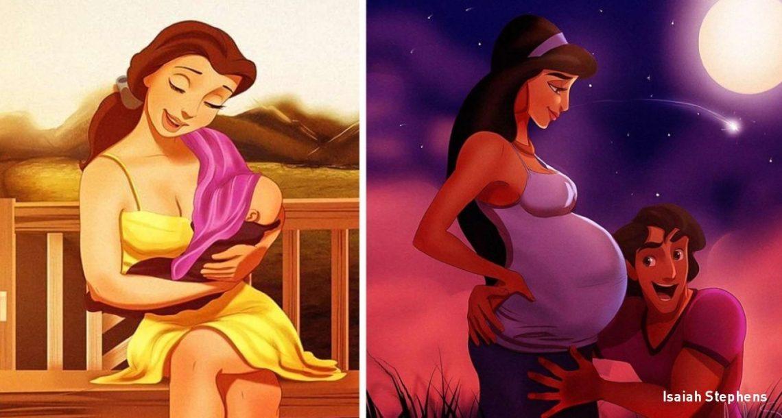 איך נסיכות דיסני היו נראות אם הן היו אמהות