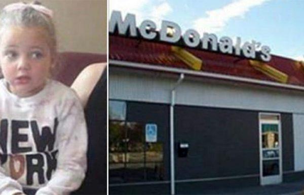 ילדה בת 4 יצאה משירותים של מקדונלדס בדמעות, אז אמא ראתה משהו על הרגל שלה