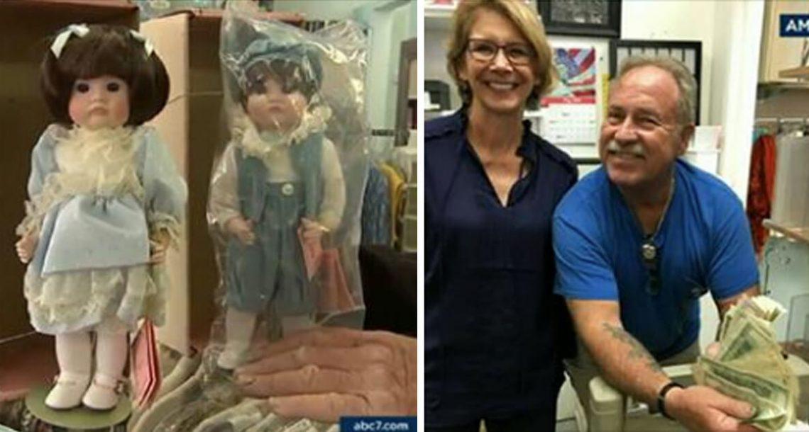 בן תרם לחנות יד שנייה את הבובות של אמו המנוחה – כשהצוות פתח מעטפה סודית בפנים, הוא היה בשוק