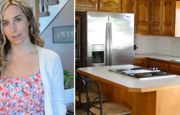 לאמא נמאס מהארונות הישנים של המטבח – שיפצה אותן לחלוטין בפחות מ 400 שקלים!
