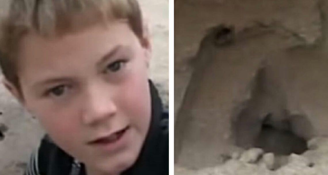 ילד בן 11 מצא ילדה בת 5 קבורה בחיים בדיונות חול – הציל את חייה עם טריק שלמד מהטלוויזיה