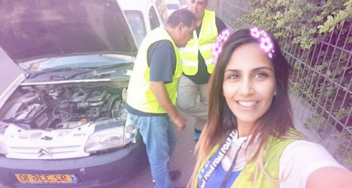היא נתקעה עם הרכב באיילון, אבל מה שקרה אחר כך הדהים אותה ואת כל עם ישראל