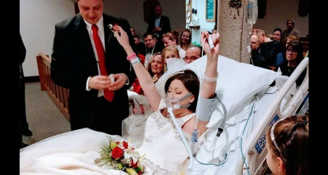 אישה חולת סרטן התחתנה בבית החולים – 18 שעות אחר כך הבעל הסתכל לתוך עיניה ונחנק