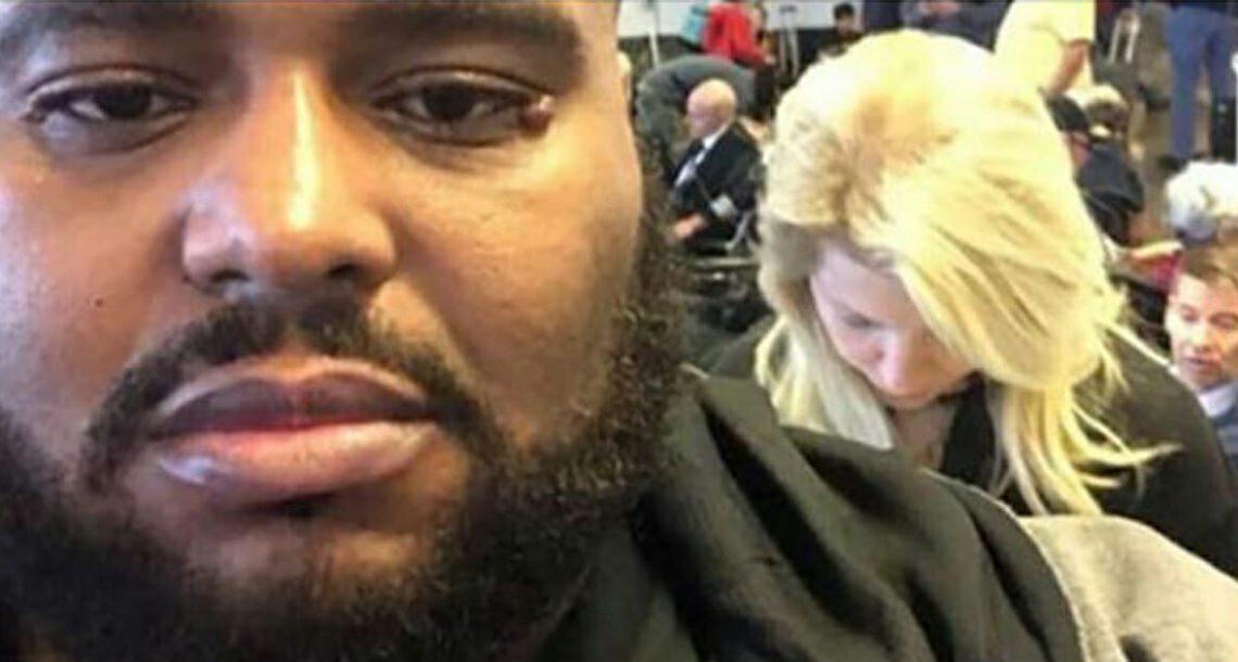 אישה התנהגה בגזענות כלפי אדם שחור בשדה התעופה – התגובה שלו הייתה פשוט גאונית!