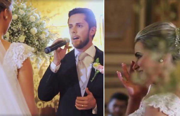 הוא שר את 'הללויה' בחתונה – אך אז הכלה שמעה משהו בחופה ולא הצליחה להפסיק לבכות