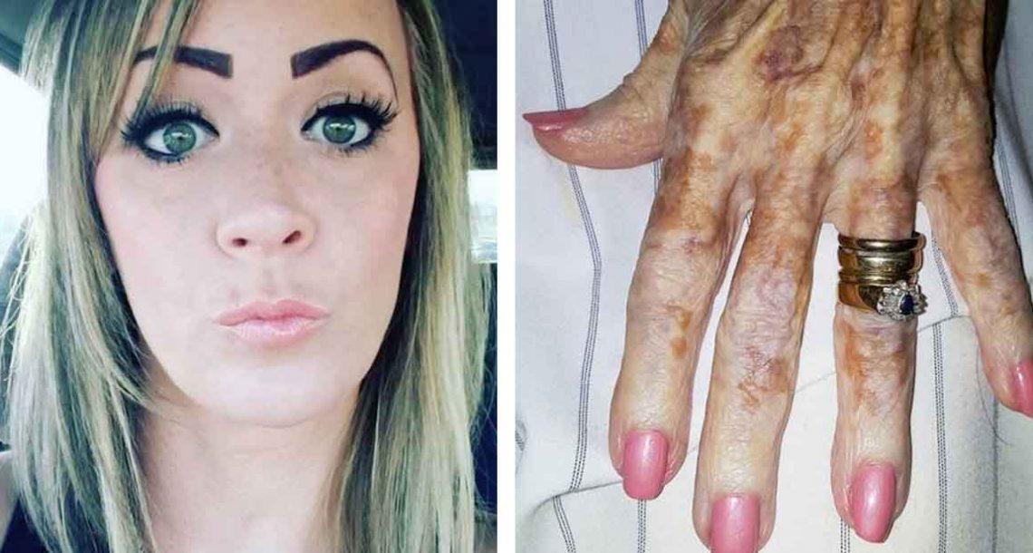 אחות צילמה תמונה של כף יד של אישה זקנה – עכשיו פרט בתמונה הדליק את כל האינטרנט