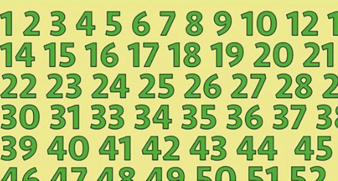 בחנו את המוח שלכם: האם אתם יכולים למצוא את המספרים החסרים ברצף המספרים הזה?