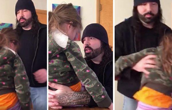 אבא העניש את בתו בת ה 4 – כשאמא ראתה אותו עושה את זה, היא רצה להביא את המצלמה