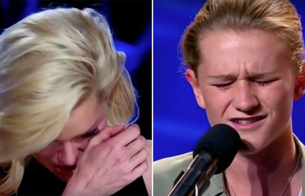 נער בן 14 שר שיר מחווה לאחיו שמת, שניות אחר כך לא נותרה עין אחת יבשה בקהל