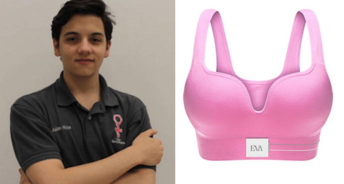 נער המציא חזייה שיכולה להציל מיליוני חיים אחרי שאמו כמעט מתה מסרטן השד