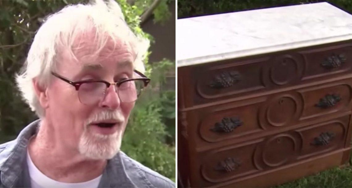 הוא קנה שידה בת 125 שנה בשוק פשפשים, ואז גילה שיש לה תא סודי…