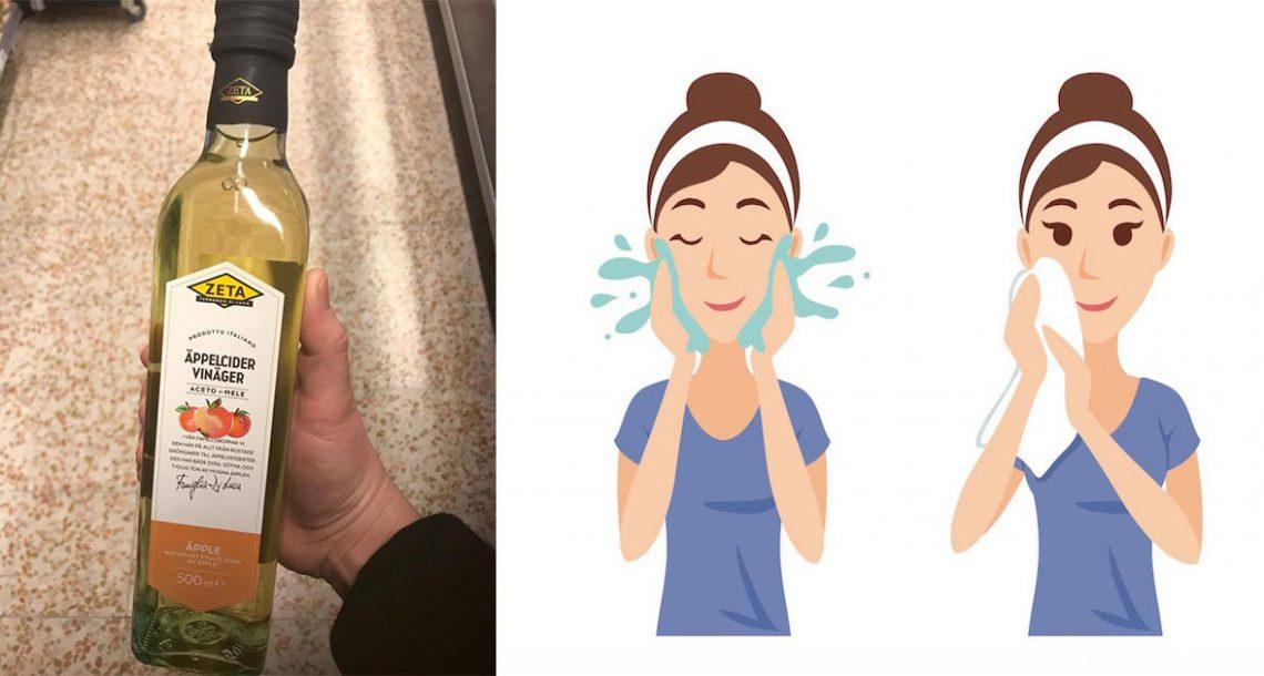 5 סיבות מדוע כדאי לכם לשטוף את הפנים עם חומץ תפוחים