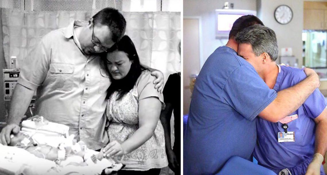 התינוק נולד בחדר הלידה – אבל אז 10 חודשים לאחר מכן, נס הביא הרופא לדמעות