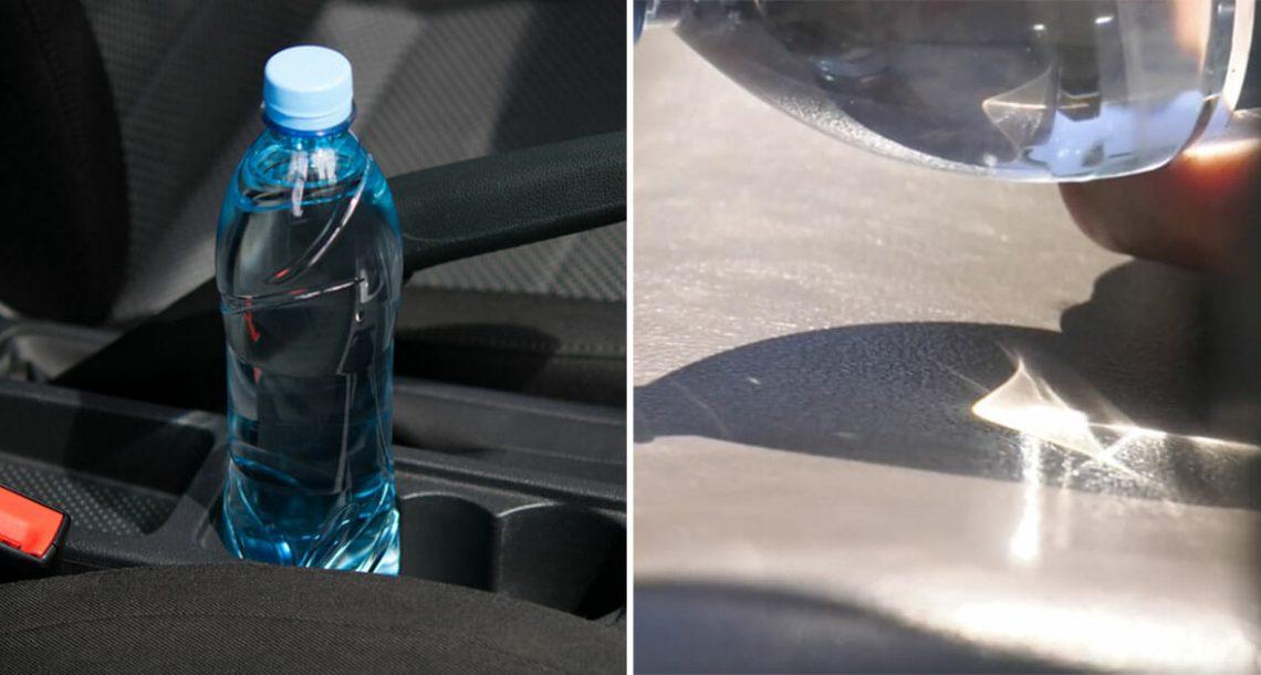 כבאים מזהירים: לעולם אל תשאירו בקבוק מים במכונית או שתמצאו את עצמכם בסכנת חיים