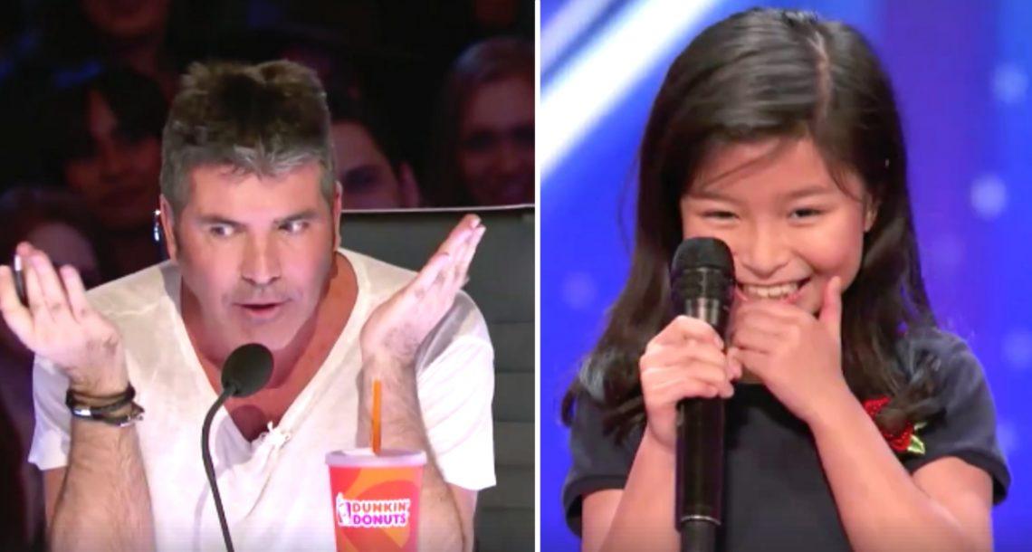 סיימון נאנח כאשר ילדה בת 9 הזכירה את סלין דיון – שניות אחר כך היא הדהימה את כולם עם הקול שלה!