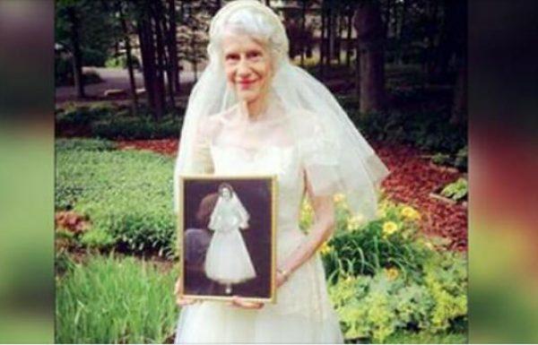 סבתא לבשה את שמלת הכלה שלה אחרי 63 שנים: ההשתקפות בתמונה גרמה לדמעות שלי לזרום