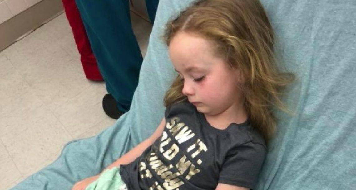 בת 5 התעוררה משותקת לחלוטין – רופאים הסתכלו על הקרקפת שלה וקלטו את האמת המדאיגה
