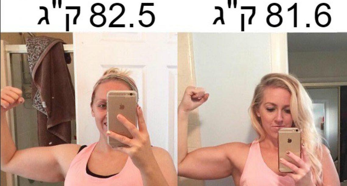 אמא הורידה 900 גרם במכון הכושר. תמונות הלפני ואחרי שלה מוכיחות שלמשקל אין משמעות