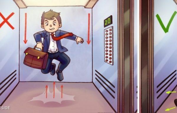 אם אתם מוצאים את עצמכם בתוך מעלית נופלת, זה מה שעליכם לעשות כדי לצאת בחיים