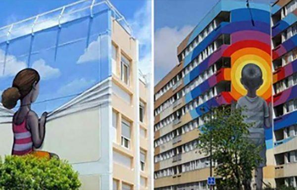 אמן מפיח חיים בבניינים ישנים ומשעממים בעזרת ציורי קיר עוצרי נשימה – אתם חייבים להכיר אותו