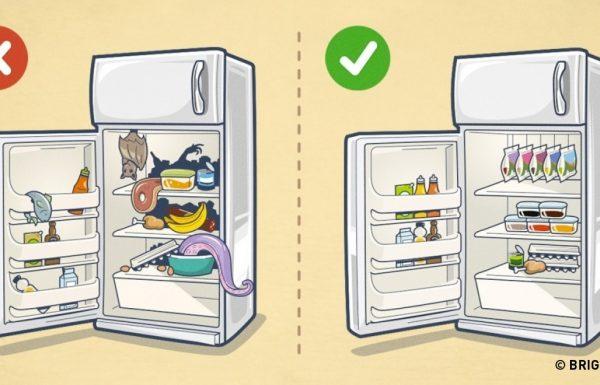 10 דרכים מעולות ויעילות לארגון וסידור המקרר שלכם