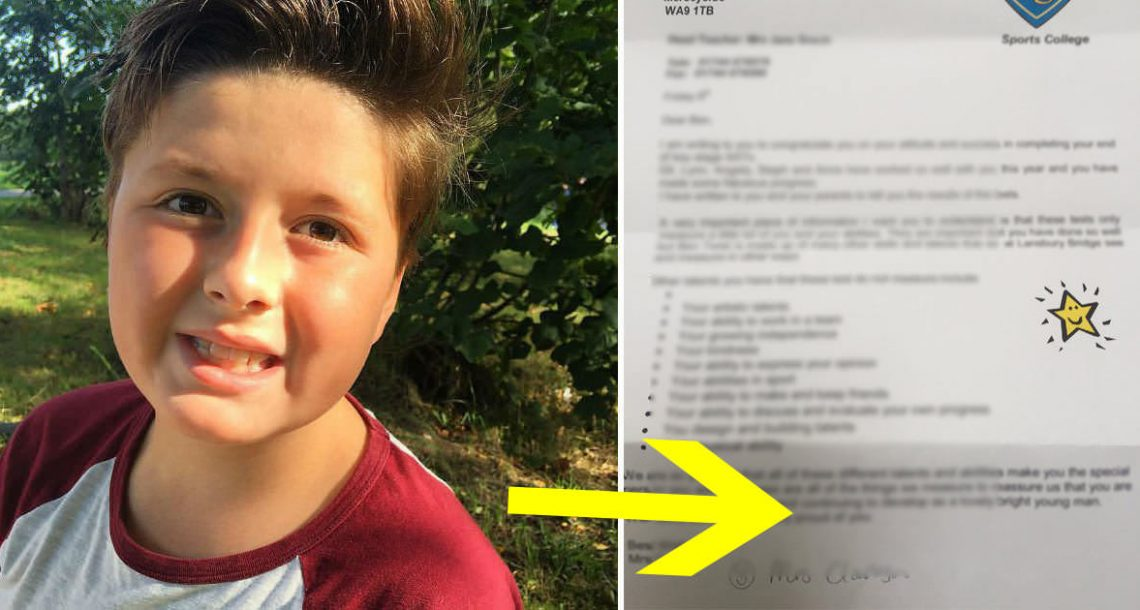 ילד אוטיסט נכשל במבחן – אך אז המורה שלו כתבה לאמו מכתב שגרם לה לפרוץ בבכי