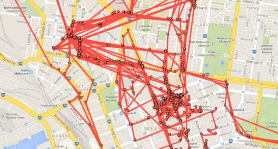 גוגל מפות עוקבים אחרי כל צעד שלכם, ויש אתר שמוכיח זאת