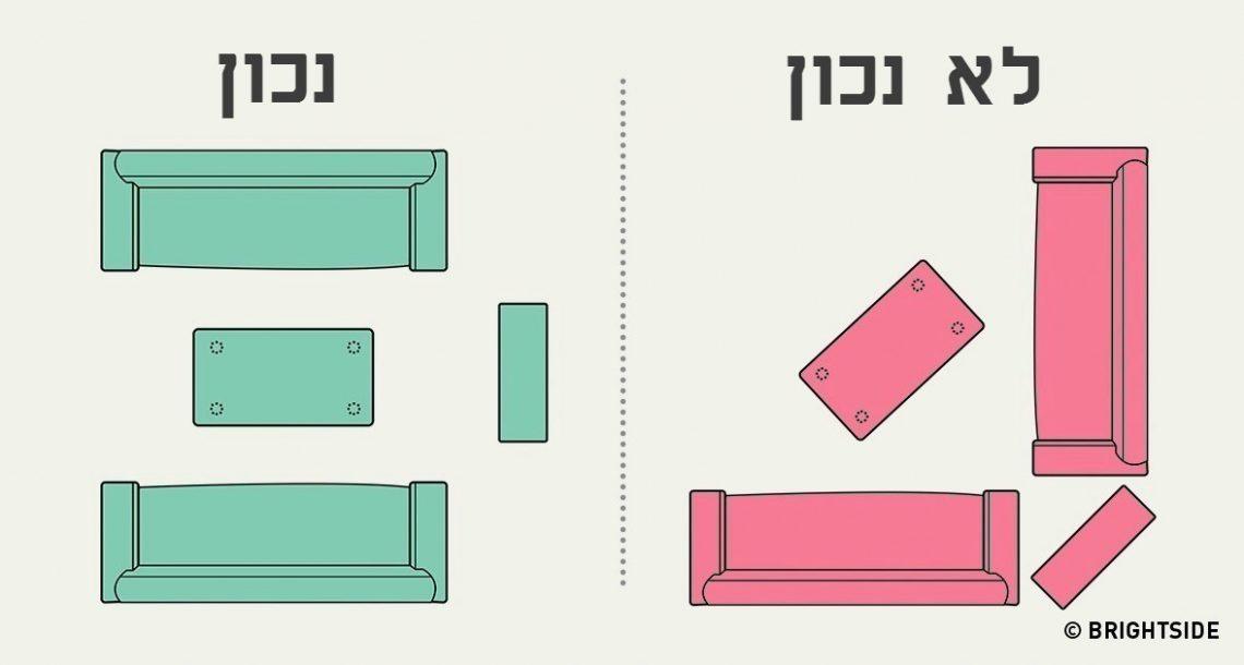 איך לסדר את הרהיטים בסלון בצורה אופטימלית