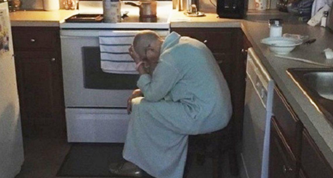 הבעל ראה את חמתו מותשת על רצפת המטבח – ליבו נשבר לרסיסים כשהבין מדוע היא יושבת שם