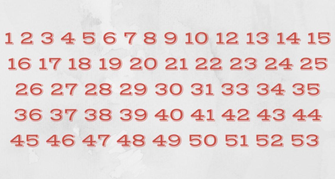 המספרים האלה נראים רגילים לגמרי, אבל משהו לא בסדר: יכולים למצוא מה בניסיון הראשון?