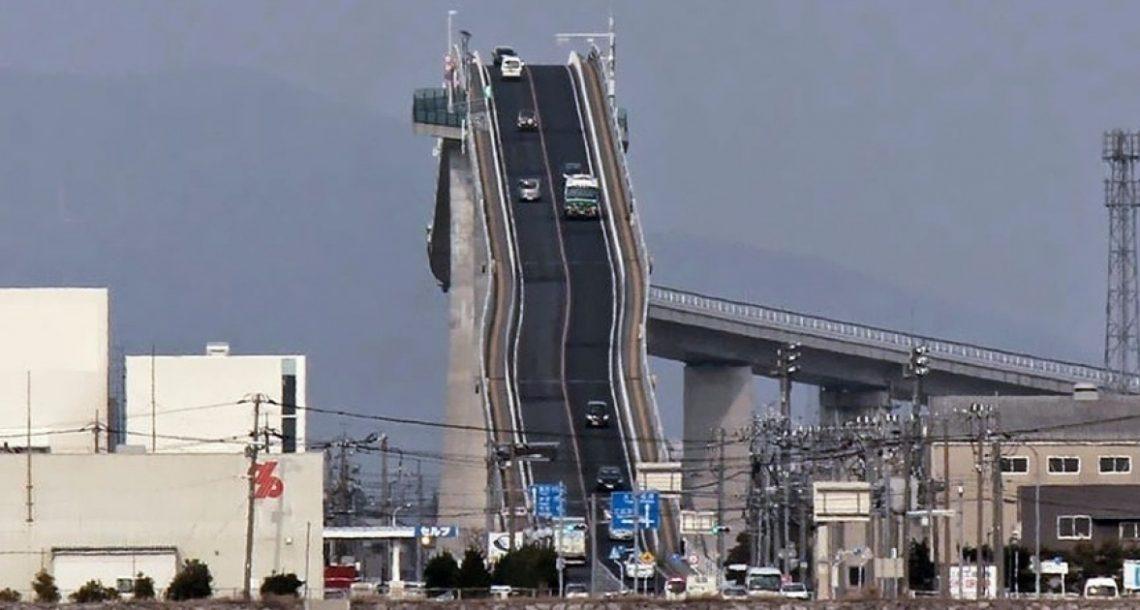 לא, זו לא רכבת הרים! זה גשר פסיכי ביפן