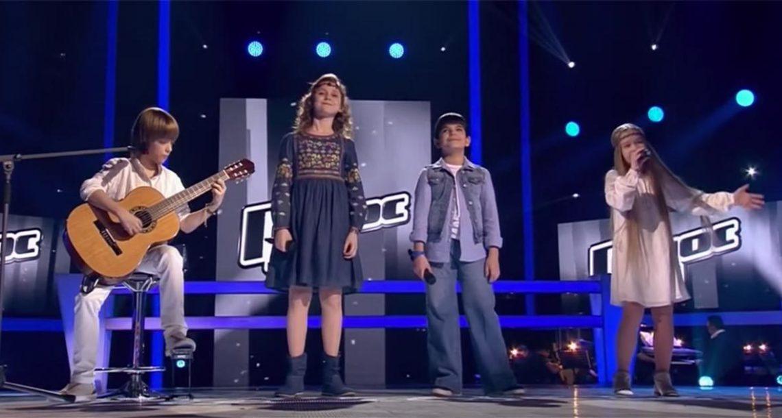 4  ילדים ביצעו שיר קלאסי של לאונרד כהן בצורה כל כך מושלמת שכל הקהל קיבל עור ברווז
