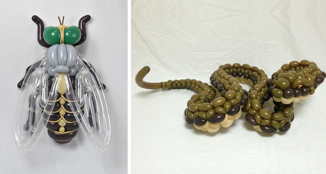 האמן היפני הזה יוצר בלונים בצורת בעלי חיים שצריך לראות כדי להאמין