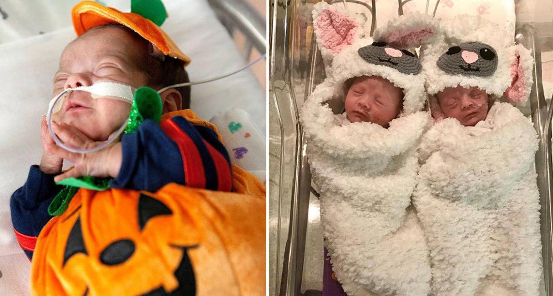 17 תינוקות בפגיה שזכו לחגוג את האלווין – הודות לאחיות מדהימות עם לב מזהב!