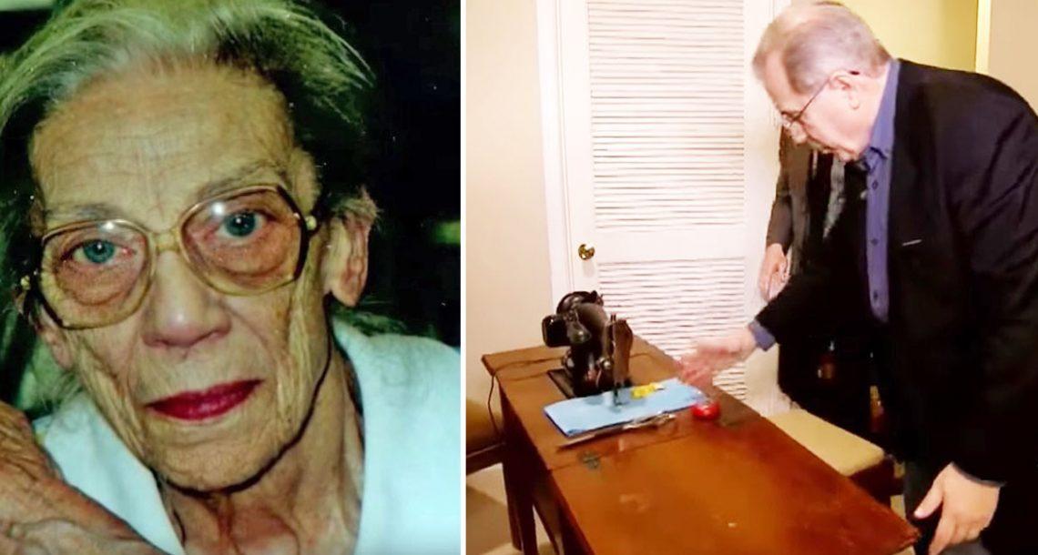 לפני שהדודה מתה, היא אמרה לאחיין שלה 'להסתכל מתחת למכונת התפירה'