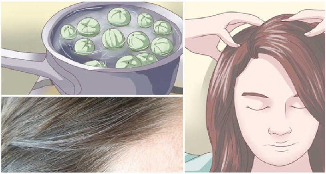 ביי ביי שיער לבן! השאירו את זה על השיער במשך 5 דקות ותיפטרו משערות שיבה לנצח!