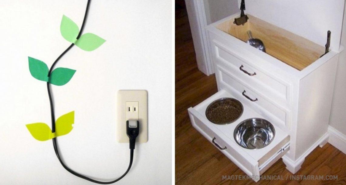 15 דרכים פשוטות אך מעולות להחבאת פריטים מעצבנים ומכוערים בבית