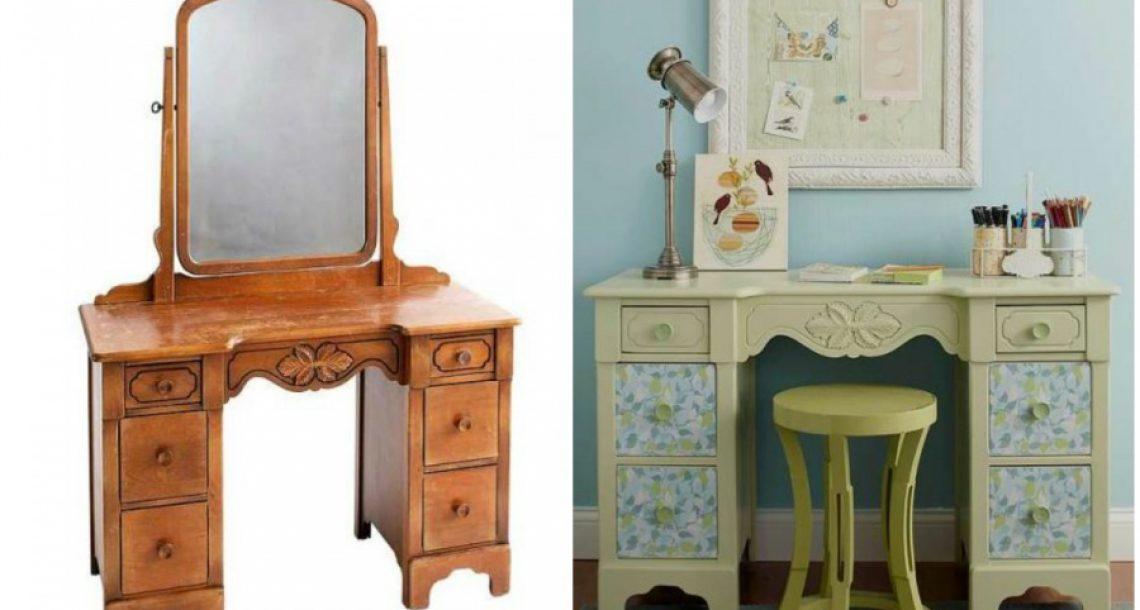 15 רעיונות מעולים שיהפכו את הרהיטים הישנים שלכם לפריטים חדשים ויפים